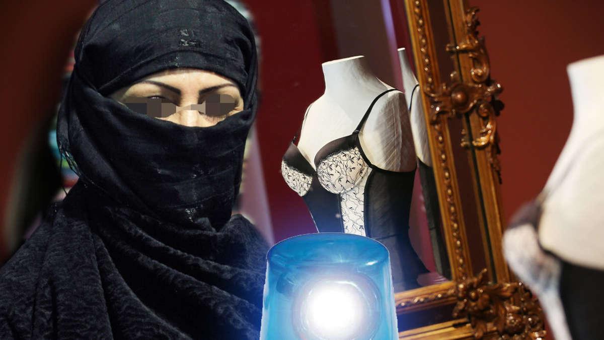 dessous verk uferin von burka frau im eigenen laden verpr gelt berlin. Black Bedroom Furniture Sets. Home Design Ideas