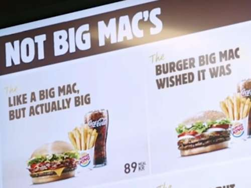 So fies verspottet Burger King McDonald's nach verlorener Big-Mac-Klage