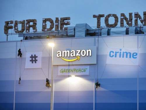Greenpeace-Demonstranten beenden Protest auf Amazon-Lager