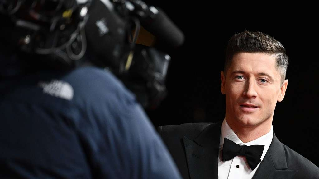 Robert Lewandowski auf der Ballon d'Or-Gala in Paris.