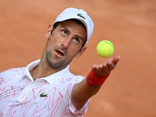 Novak Djokovic beim Tennis-Turnier in Rom im Finale