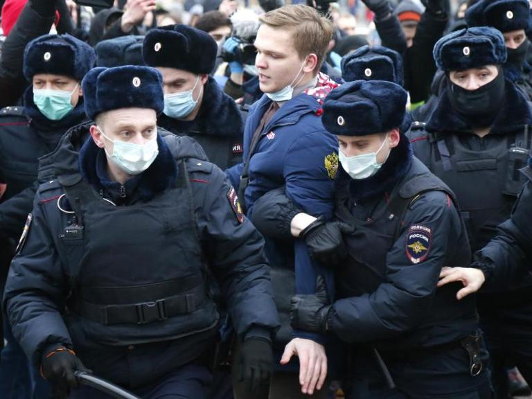 Protest in Moskau